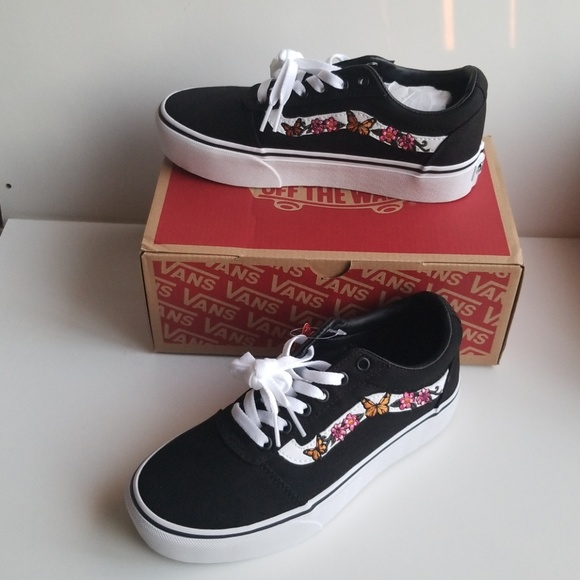 078e10dd94509e Vans ward old school embroidered with butterfly